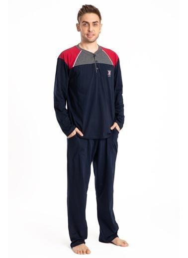 Pemilo Erkek 745 Cepli Uzun Kol Yazlık Pijama Takımı SİYAH Lacivert